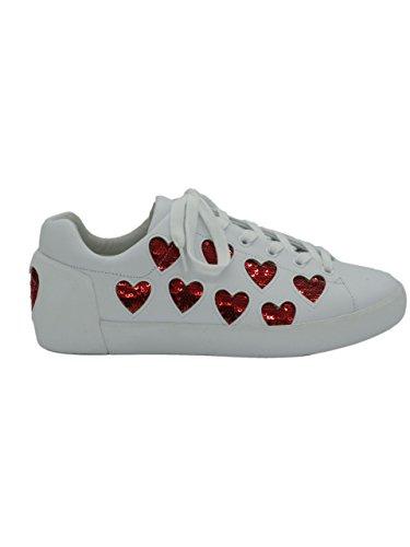 Ash Cuori Bassa Sneaker Mainapps Bianco prApqw