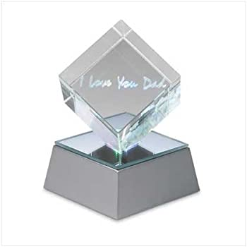 Furniture Creations I Love You Dad Lighted Acrylic Cube Fathers Day Gift