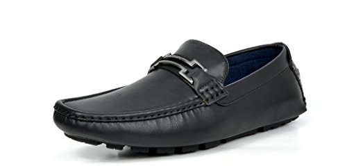 BRUNO MARC MODA ITALY HUGH-01 Men's Classy Fashion On The Go Driving Casual Loafers Boat shoes Black Size 10.5