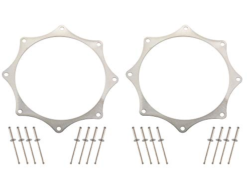 Supercharger Turbo - Stainless Exhaust Trim Rings for 4