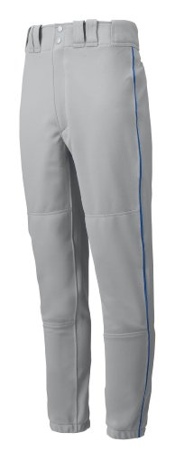 Mizuno Premier Piped Pant (Gray/Royal, X-Small) by Mizuno