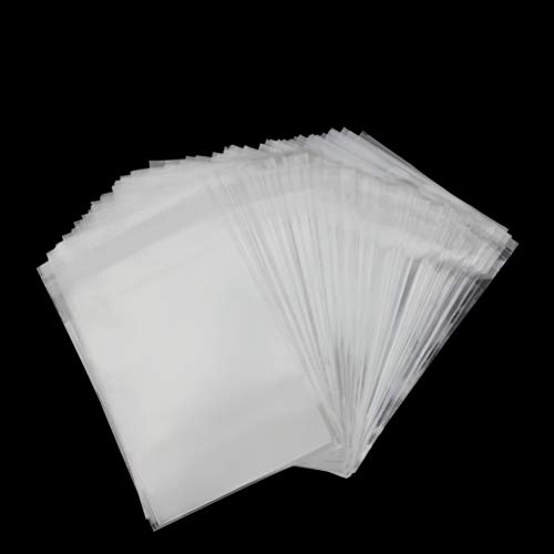 200 Pcs 4x6 inches Clear Cello Cellophane Bags Self Sealing - 3.2 Mils Thick OPP Plastic Bags for Bakery, Candle, Soap, Cookie (4x6 inches)