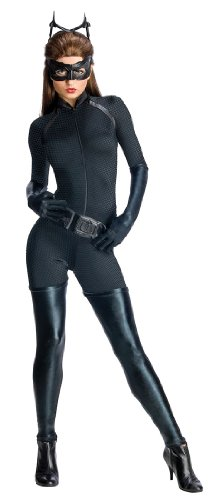[Secret Wishes Dark Knight Rises Adult Catwoman Costume, Black, Large] (Halloween Costumes For The Family)