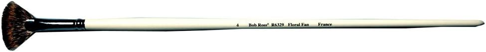 Bob Ross R6329#4 Floral Fan Artist Brush