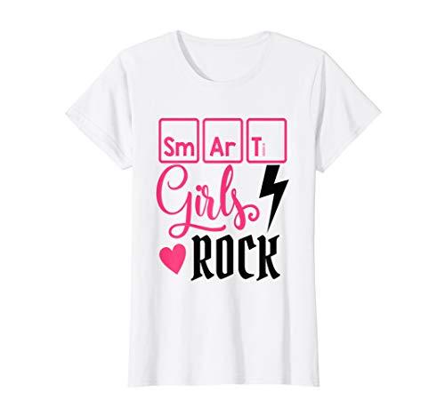 SMART Girls ROCK Cute Kids Science Shirt Tshirt