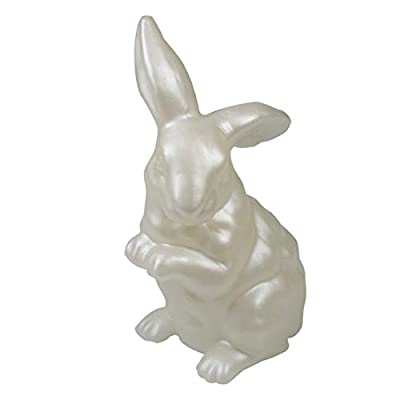 CANDLE CHOICE Handmade Real Wax Bunny Battery Operated LED Candle Light with Timer Long Ear Sitting Rabbit Statue Decorative Table Lighting for Spring Easter Holiday Home Decor Decorations Gifts