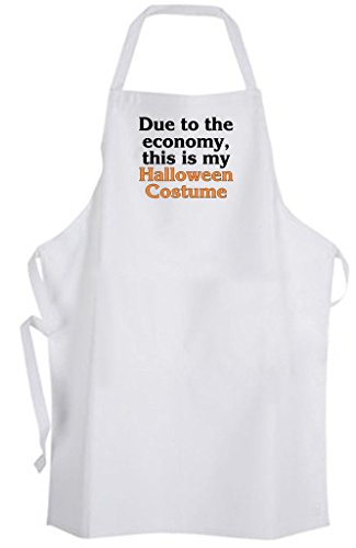 Due to the economy, this is my Halloween Costume Adult Size Apron - Funny Humor (Apron Costume Humor Bbq)