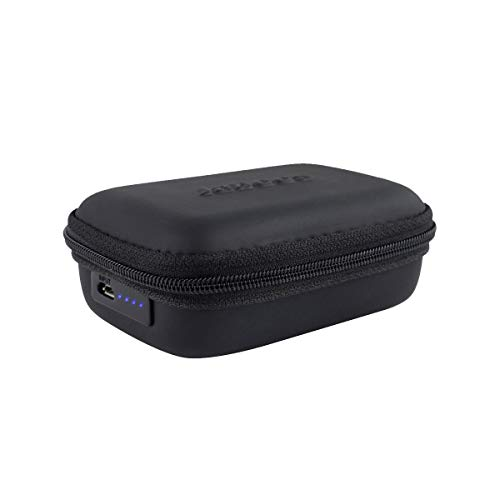Jabees Portable Charging Case with Built-in 1000mAh Battery Capacity to Recharge in-Ear Headphones and Wearing Devices Storage Bag Compatible with Beats Jabra Bose Fitness Tracker Wireless Earbuds