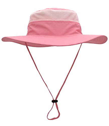 Mazo Camping Hat Outdoor Quick-dry Hat Sun Hat Fishing Cap(Pink) ()