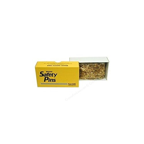 PRYM DRITZ #00 SAFETY PINS 3/4'' Brass (1440 pins/box) by Prym Dritz