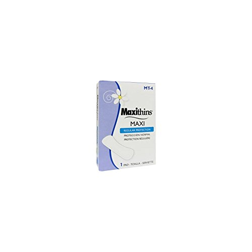Hospeco Maxithins Maxi Pads, 4'', - Case of 250 - Case of 250 by Hospeco