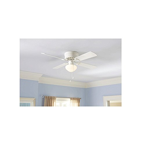 Set of 2 harbor breeze armitage 42 in white flush mount ceiling fan set of 2 harbor breeze armitage 42 in white flush mount ceiling fan with light kit amazon aloadofball Images