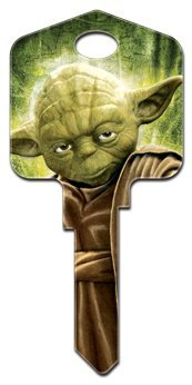 1 X Star Wars YODA kw House Key (Blank One Key)