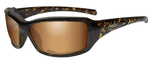 Harley-Davidson Women's Tori Gasket Sunglasses, Tortoise w/ Stones Frame - Women's Davidson Sunglasses Harley