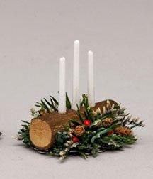Centrotavola Natalizi Amazon.Christmas In Legno Candela Centrotavola Bianco Candele Di Lusso