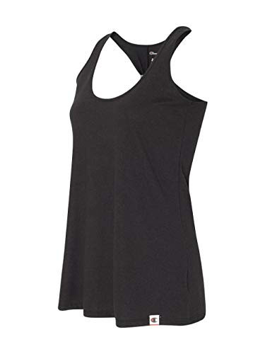 Champion Women's Authentic Originals Triblend Jersey Swing Tank Top, Black, Medium ()