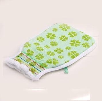 CK Toalla de baño / fuerte baño de descontaminación suministros / fibra de baño toalla de baño / guantes de ducha para adultos 2 , green: Amazon.es: Hogar