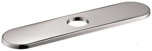 Hansgrohe 14019001 Baseplate Kitchen Fits All, 10 Inch, Chrome - Faucet Base Plate