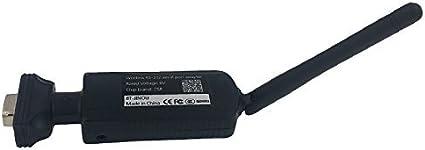 Jinou Remote Bluetooth 3.0Serial Port Adapter 100Metros (Macho), RS232a Bluetooth, Class 1, Antena Externa