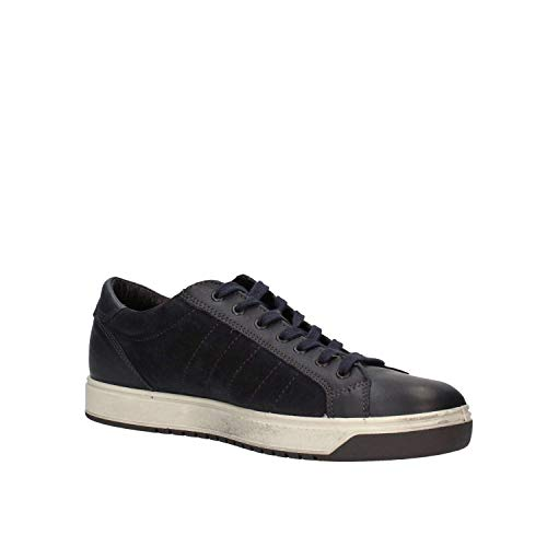 amp;co In Scarpe Igi Memory Con Uomo Sneakers Foam 87254 Pelle Blu gw44qd