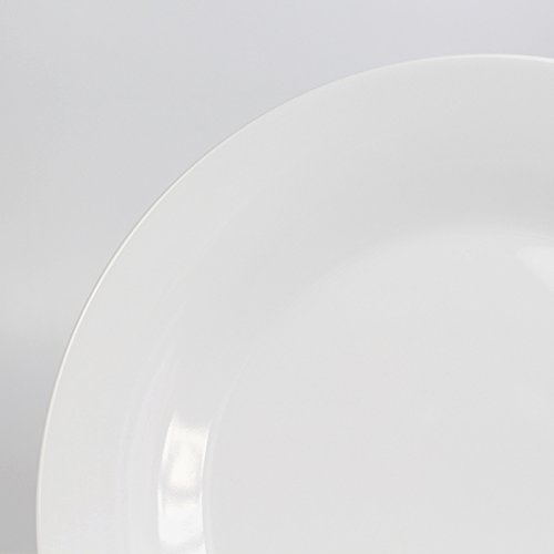 Winnsoma Elegante 18-Piece White Porcelain Dinnerware Set, Service For 6. Complete Set With 6 Dinner Plates, 6 Side Plates And 6 Small Bowls by Winnsoma (Image #3)