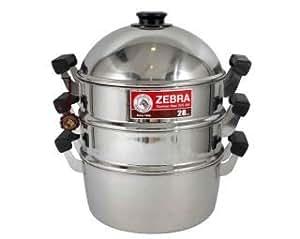 Amazon.com: Zebra Steamer Set Stainless Steel Premium High