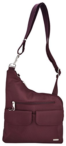Travelon Anti-Theft Cross-Body Bag (O/S, Dark Raisin)