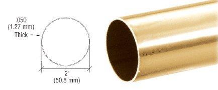 Polished Brass 2'' Diameter Round .050'' Tubing - 98''