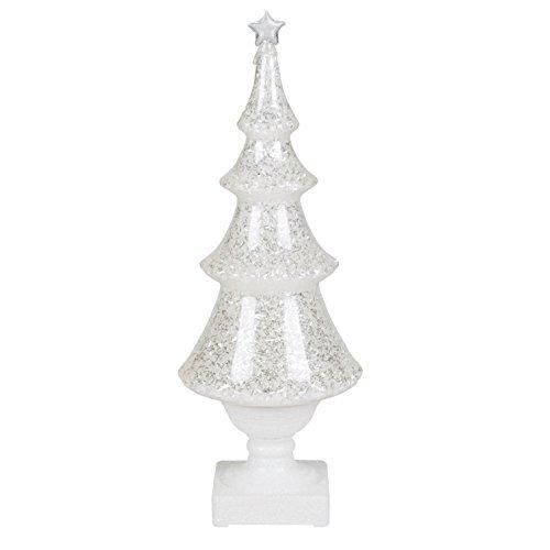 Roman Glitter Ice LED Light Up 14 Inch Plastic Christmas Tree Tabletop Figurine