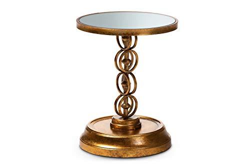 Baxton Studio 151-9071-AMZ End Tables, One Size, Antique Gold Antique Gold Tone Base