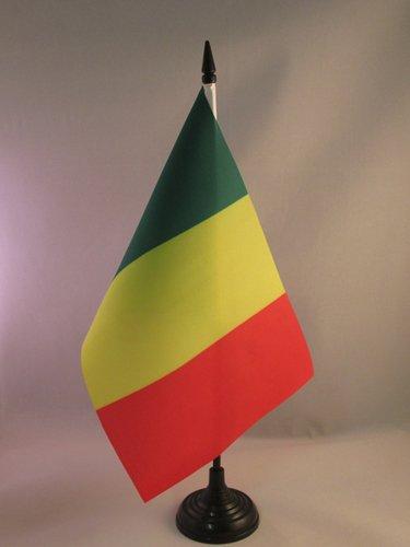 AZ FLAG TISCHFLAGGE Mali 21x14cm MALISCHE TISCHFAHNE 14 x 21 cm flaggen