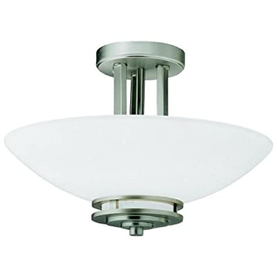 Kichler Lighting 2-Light Hendrik Incandescent Semi-Flush Mount Ceiling Light