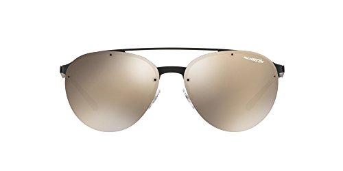 de Hombre Lightbrownmirrorgold 0AN3075 Arnette Sol Rubber 696 Black Negro 5A para 57 Gafas axIPnAw0P