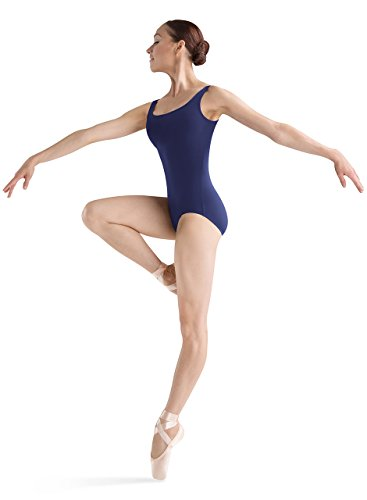 Bloch Dance Women's Faire Microlux Tank Leotard, Navy, Petite (Bloch Tank Leotard)