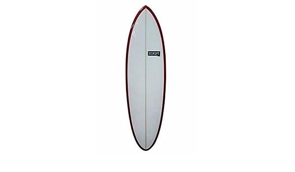 Ocultos de la tabla de surf, color rojo y blanco, diseño de carril 5 4 - 6 4: Amazon.es: Deportes y aire libre