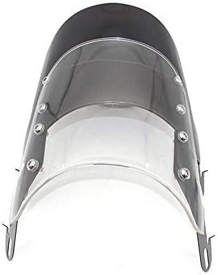 gaeruite Windschutzscheibe mit Airflow-Funktion, Universal Motorcycle Windschutzscheibe für Honda Yamaha Kawasaki Suzuki 5-7 Zoll Scheinwerfer