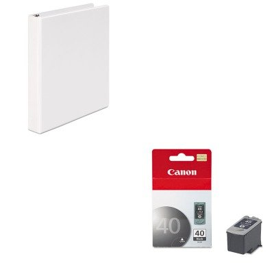KITCNMPG40UNV20962 - Value Kit - Canon PG40 PG-40 Ink Tank (CNMPG40) and Universal Round Ring Economy Vinyl View Binder ()
