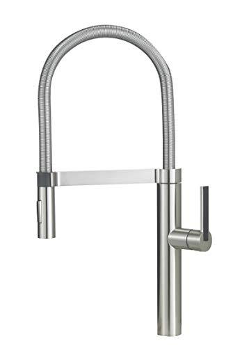 Blanco 441332 Semi-Pro, 2.2 GPM, Satin Nickel Kitchen Faucet
