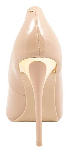 Elara - Cerrado Mujer beige/dorado