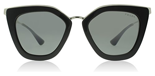 Prada Women's Metal Bridge Mirrored Sunglasses, Black/Silver - Sunglasses Prada Silver