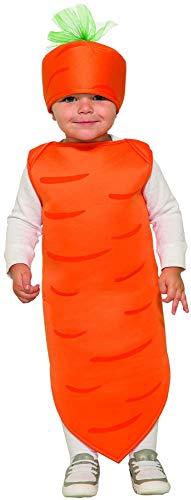 (Forum 80412-As-Toddler Kids Carrot, Toddler, Orange/Green, Pack of)