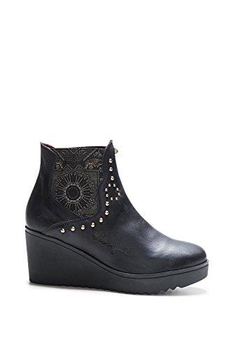 Desigual Shoes Boots Black Women Bonnie BLACKSTUD 17WSALA2 TaZTxwr