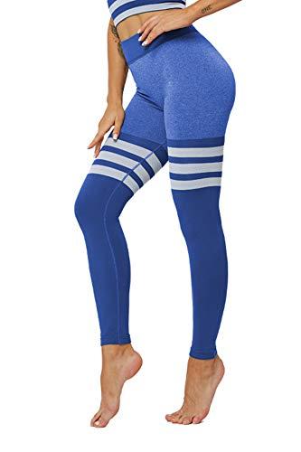 Pau1Hami1ton Vrouwen Yoga Broek Streep Naadloze Leggings Fitness Workout Running Panty GP-27