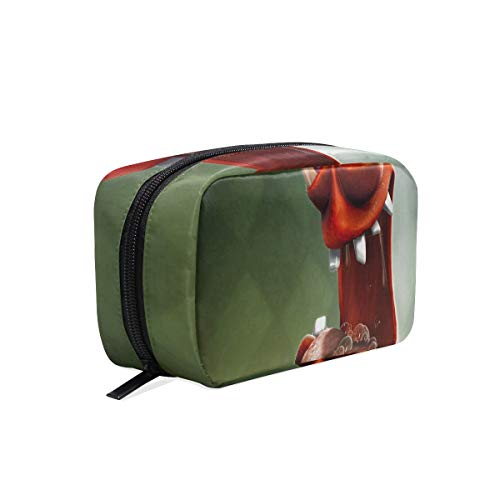 - Portable Organizer Makeup bag,Frogs Crazy Cosmetic Bags Multi Compartment Travel Pouch Storage for Women