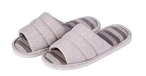 des Bout sur Femmes Chaussons Chaussures d'intérieur de mémoire Coton de Molles Gris Ouvert à de de de ouvrent Maison Pantoufles Maison la des la Mousse 4ZF766qt