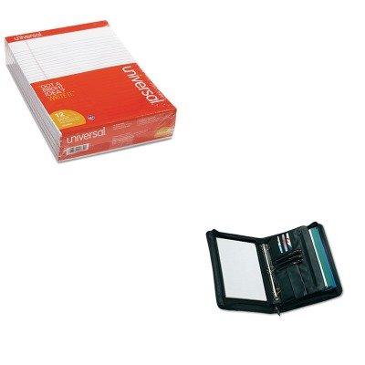 KITUNV20630UNV25650 - Value Kit - Universal Zip-Around Padfolio (UNV25650) and Universal Perforated Edge Writing Pad (UNV20630)