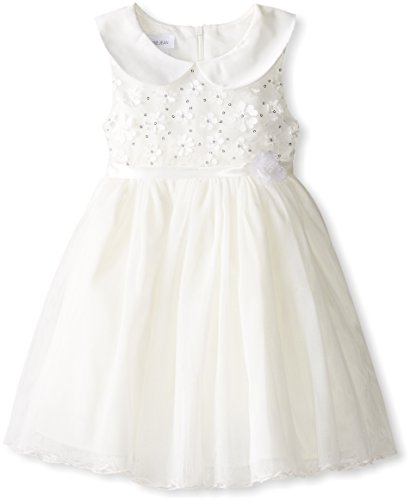Bonnie Jean Girls' Toddler Daisy Sequin Bonaz Dress, Ivory, 3T