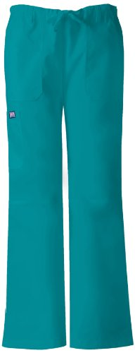 (Cherokee Womens Low Rise Drawstring Cargo Pant, Blue Mist, XX-Large)