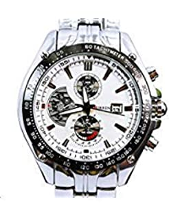 b2cb211c756f ShoppeWatch Relojes de Hombres Mens Bracelet Watch Metal Band Silver Tone  Large Face CR8083SLWH