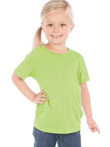 Kavio! Toddlers Crew Neck Short Sleeve Tee Jersey (Same TJC0440) Lime -